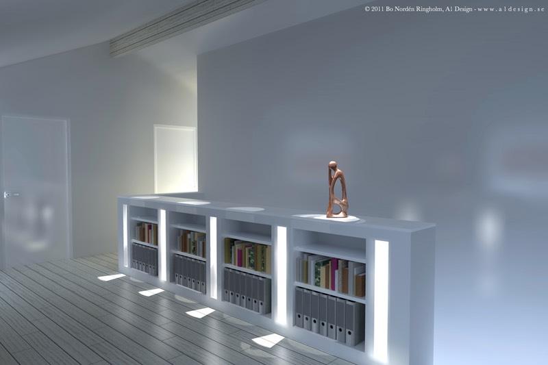 Bokhylla 3D ritning